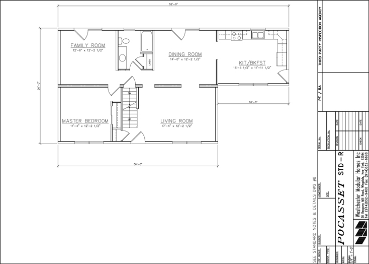 Pocasset Cape first floor design